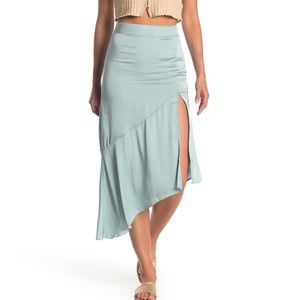 NWT Free People Lola Asymetrical Slit Skirt 6